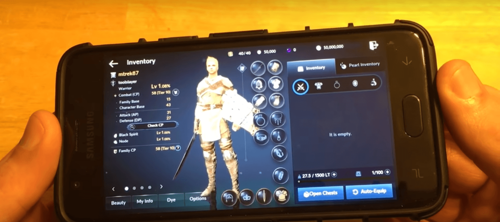 black desert mobile kody